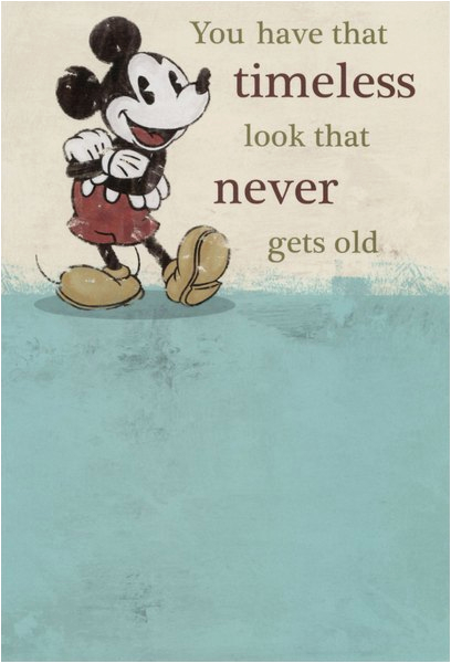 cd10179 mickey mouse timeless disney birthday card sunrise