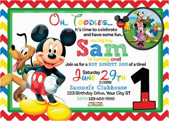 Mickey Mouse Birthday Invitations Online Free Printable 1st