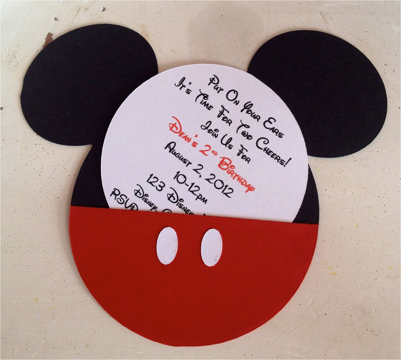 cartoon birthday invitation mickey mouse birthday