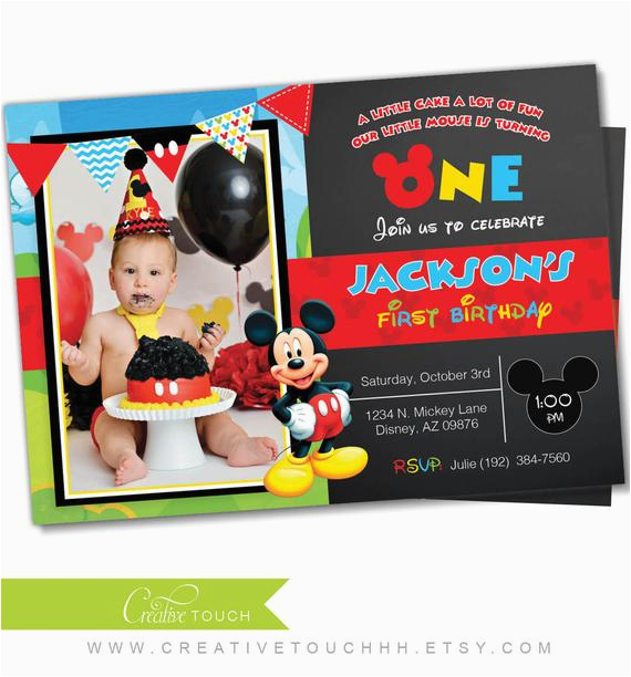 mickey mouse invitation mickey mouse clubhouse invite