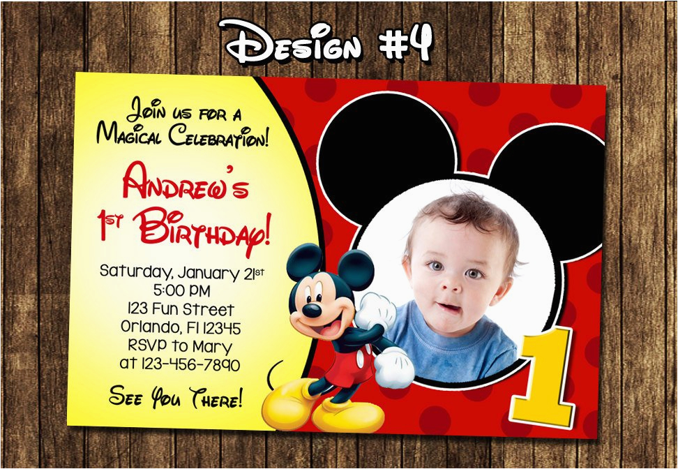 mickey mouse baby first birthday party