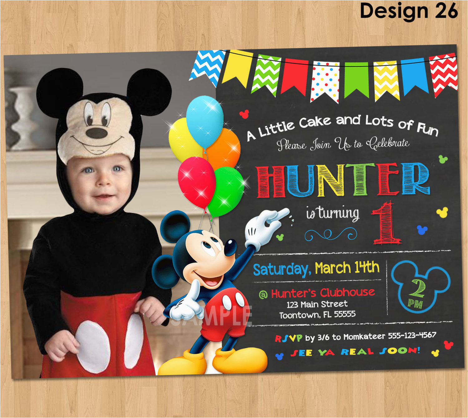 mickey mouse clubhouse invitations for special birthday party
