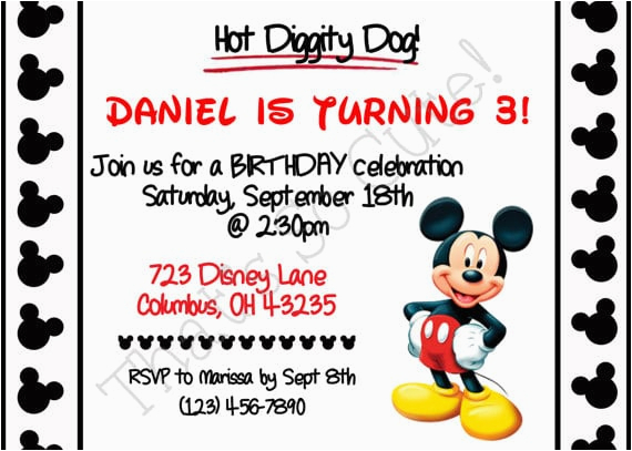 free mickey mouse printable invitation