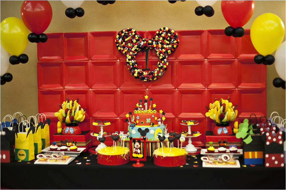 Mickey Mouse Clubhouse 1st Birthday Decorations Mickey Mouse Clubhouse 1st Birthday Party Ckaystudios