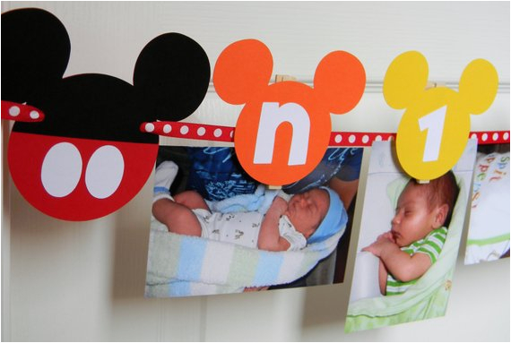 Mickey Mouse Clubhouse 1st Birthday Decorations Party First Year Photo