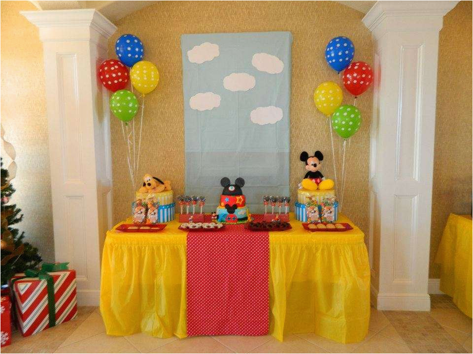 Mickey Mouse Clubhouse 1st Birthday Decorations Party Ideas Photo 1 Of