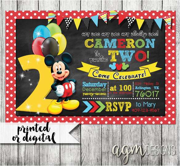 Mickey Mouse Clubhouse 2nd Birthday Invitations 31