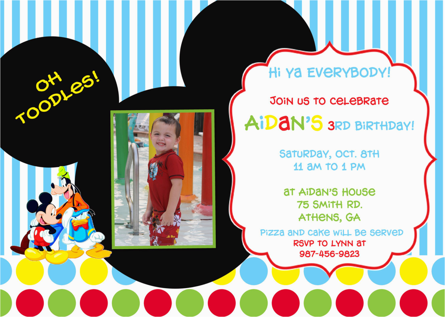 Mickey Mouse Clubhouse Birthday Invites Birthdaybuzz