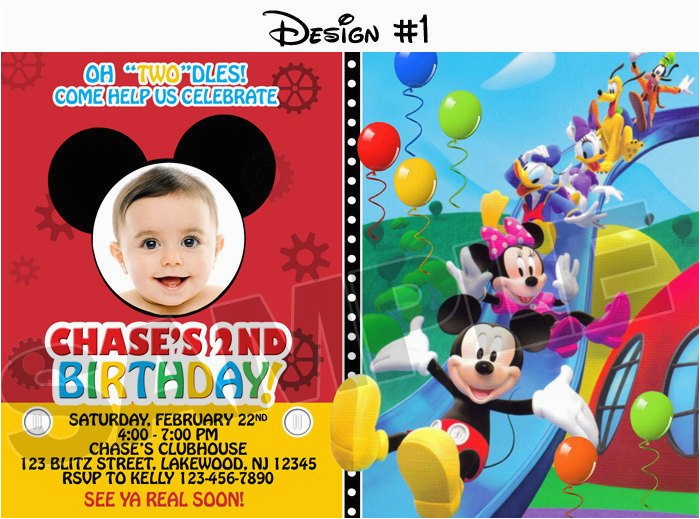 Mickey Mouse Clubhouse Birthday Invites Mickey Mouse Clubhouse