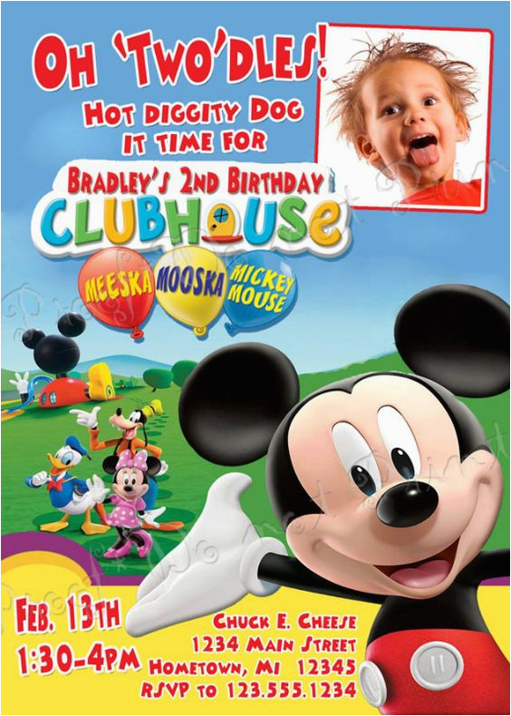 exclusive mickey mouse clubhouse birthday invitations