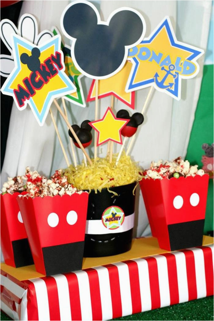 Mickey Mouse Decorations For Birthday Kara 39 S Party Ideas Clubhouse
