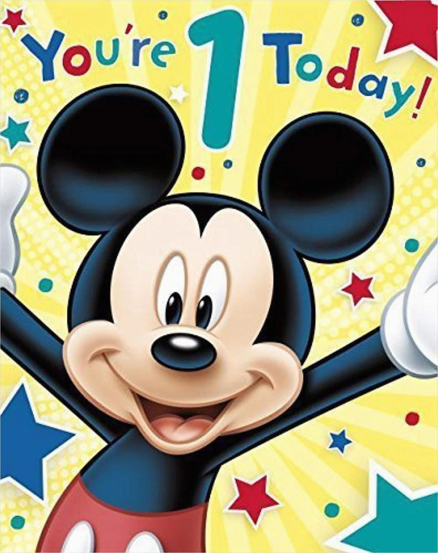 carlton disney s mickey mouse 1st birthday card 11 by shop inc c6c6f42438789f1f