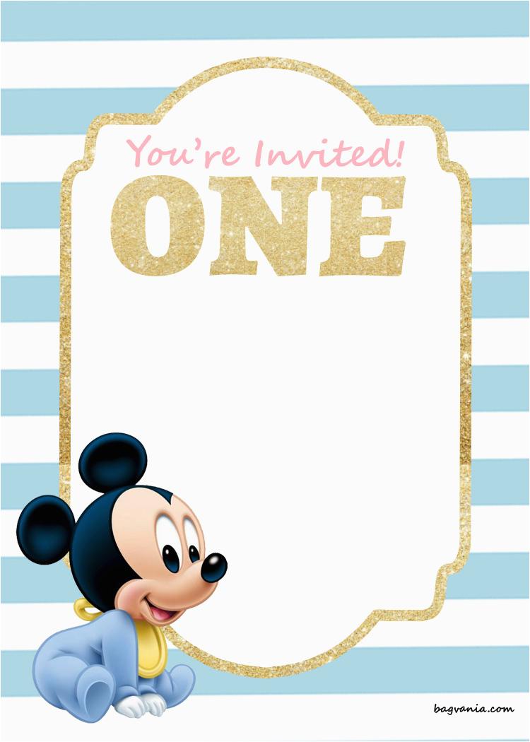 free mickey mouse 1st birthday invitations