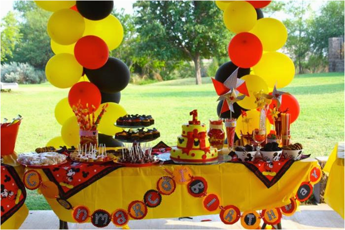 Mickey Mouse First Birthday Party Decorations Kara 39 S Ideas Themed 1st