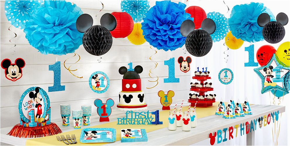Mickey Mouse First Birthday Party Decorations 1st Supplies City