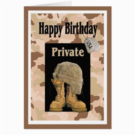 military army private birthday card zazzle com