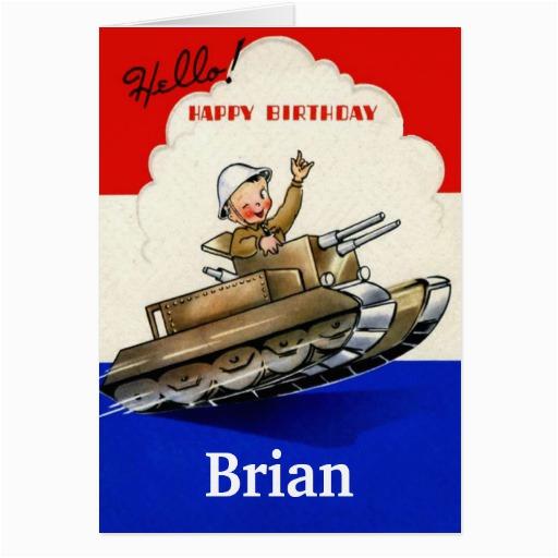 vintage military birthday card zazzle