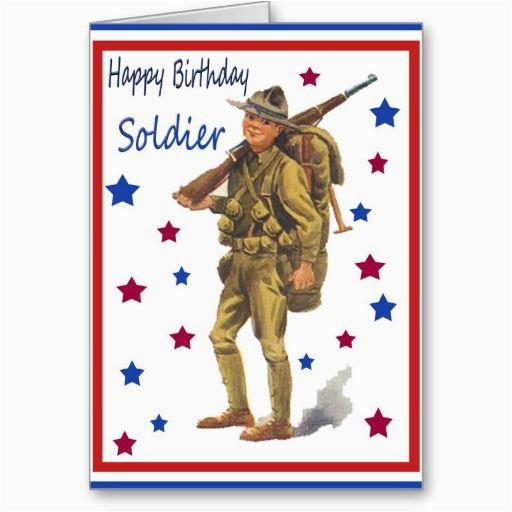 vintage military happy birthday card soldiers vintage