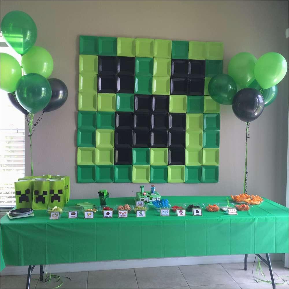 picture regarding Minecraft Party Ideas Printable called Minecraft Birthday Decoration Suggestions Minecraft Birthday Social gathering