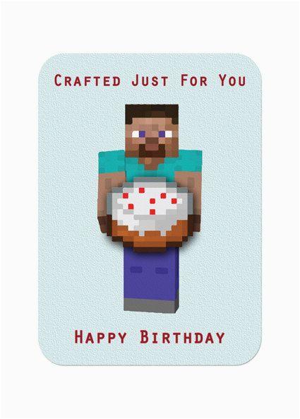 6 best images of minecraft boy birthday card printable