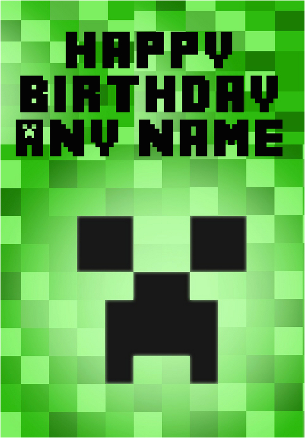 Minecraft Printable Birthday Card 6 Best Images Of Minecraft Printable Happy Birthday Card