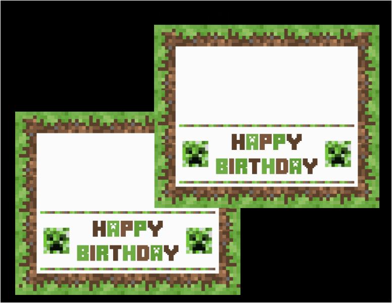 picture regarding Printable Minecraft Birthday Cards called Minecraft Printable Birthday Card 9 Excellent Photographs Of Minecraft