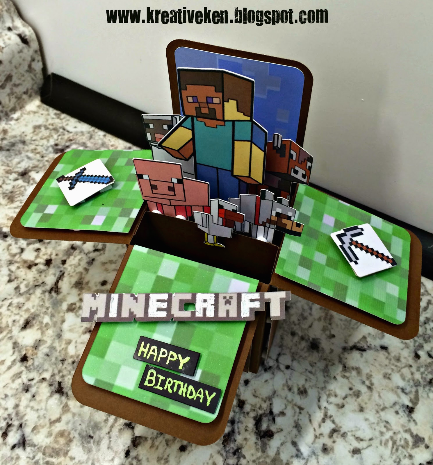 graphic relating to Printable Minecraft Birthday Cards named Minecraft Printable Birthday Card Minecraft Birthday Card