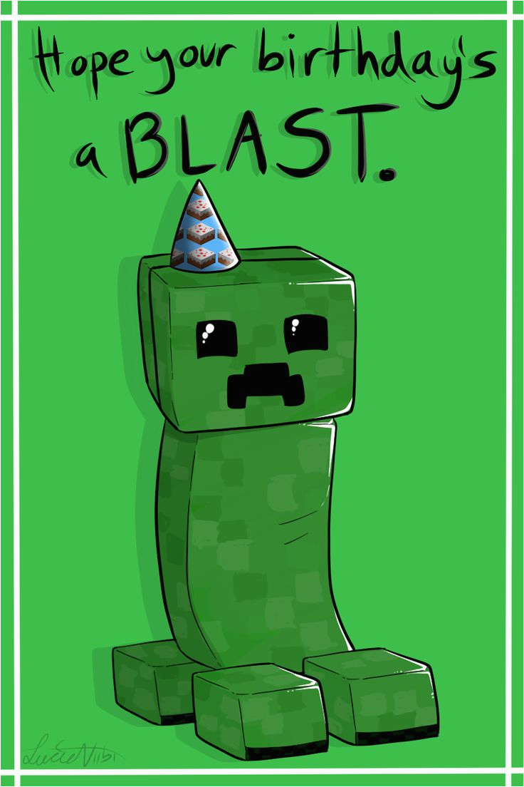 graphic relating to Minecraft Printable Creeper identify Minecraft Printable Birthday Card Minecraft Birthday Playing cards