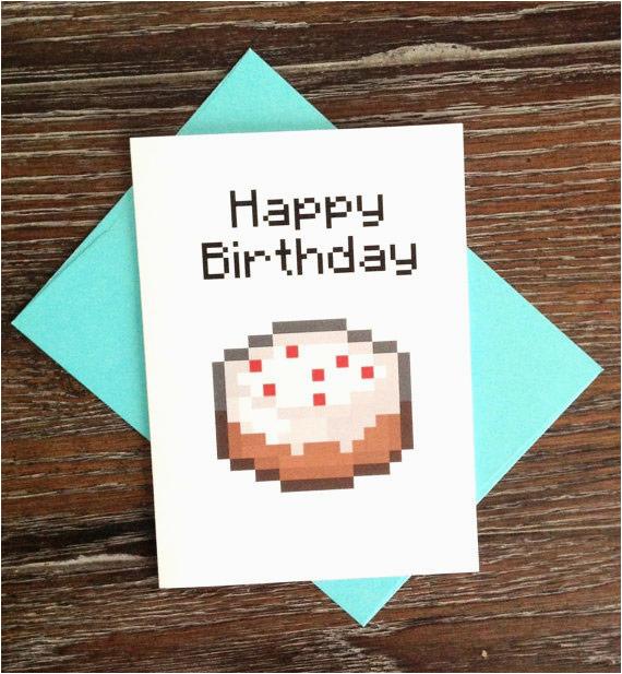 picture regarding Minecraft Printable Birthday Cards titled Minecraft Printable Birthday Card the Most straightforward Minecraft Social gathering
