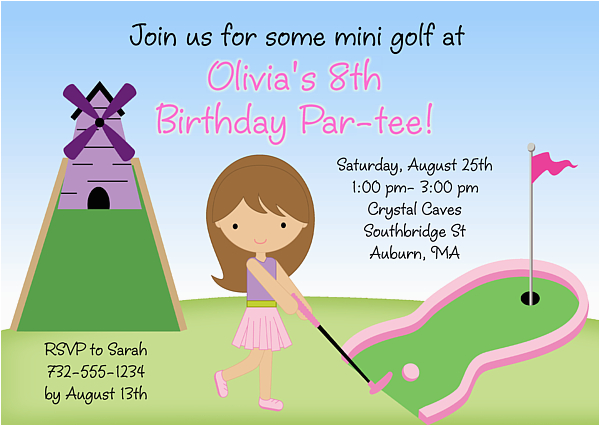 Mini Golf Birthday Invitations Free Printable Rh Birthdaybuzz Org