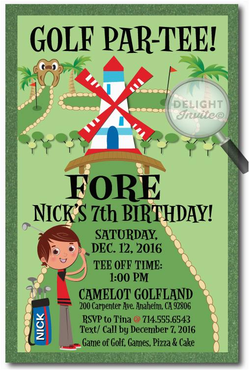 mini golf birthday invitations p 2812
