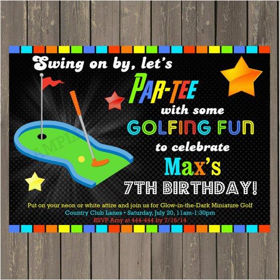 Mini Golf Birthday Invitations Miniature Golf Invitation Golf Birthday Party Invitation
