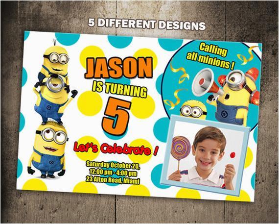 minions birthday invitation party invite