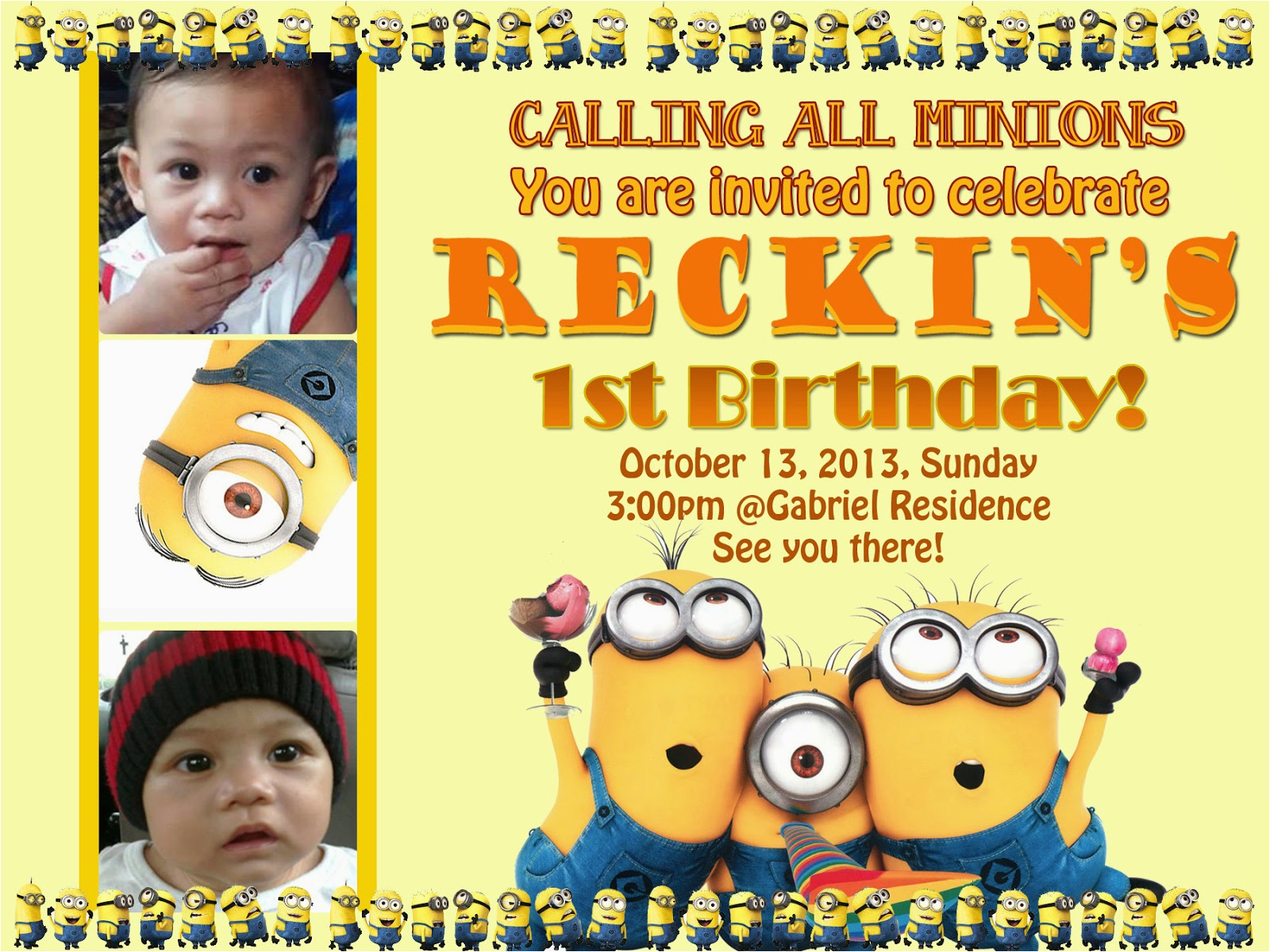 my nephew is turning one this october