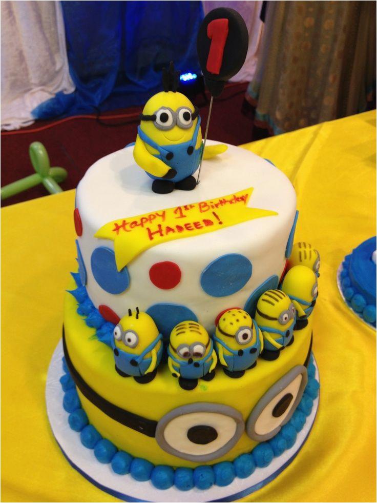 Minion Birthday Cake Decorations Minions Birthday Cake Birthday Cake Cake Ideas by