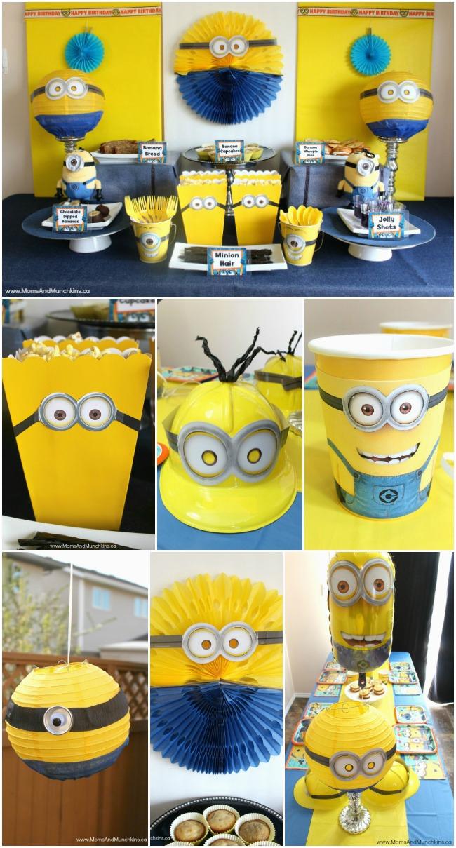 Minion Birthday Party Decoration Ideas Minions Moms Munchkins