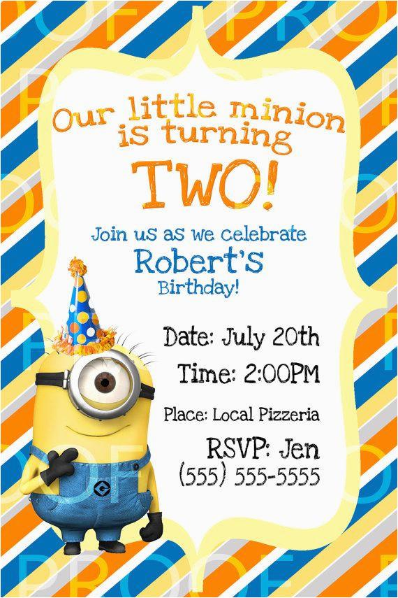 best 25 minion birthday invitations ideas on pinterest