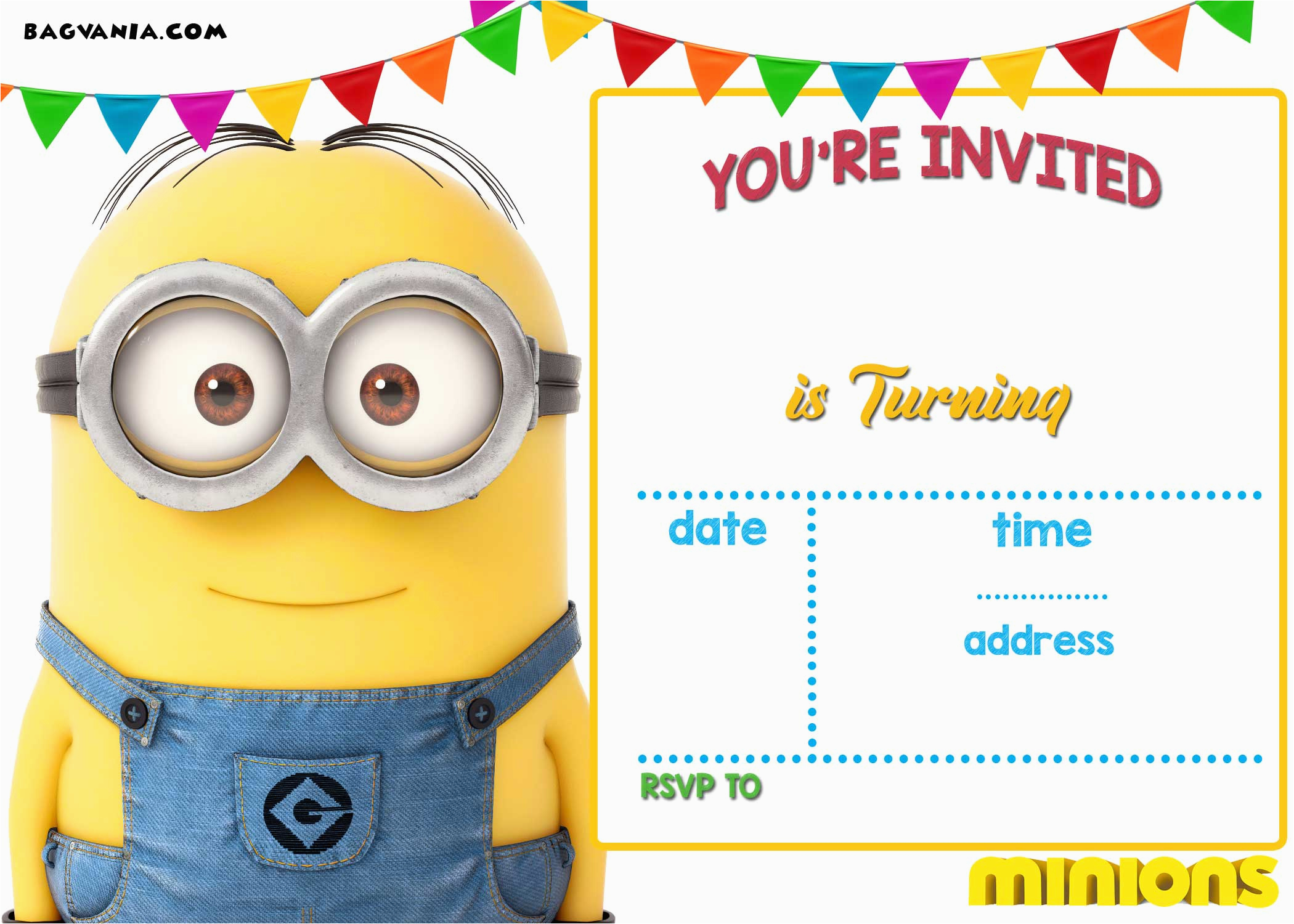 free printable minion birthday invitation templates free