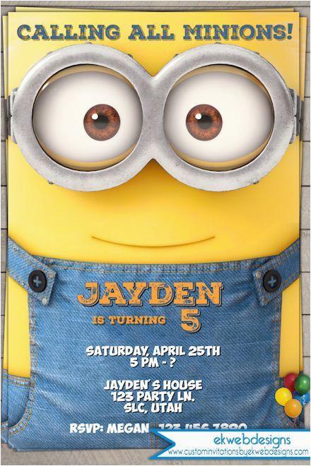 minion birthday invitation 2015 minion movie invitations