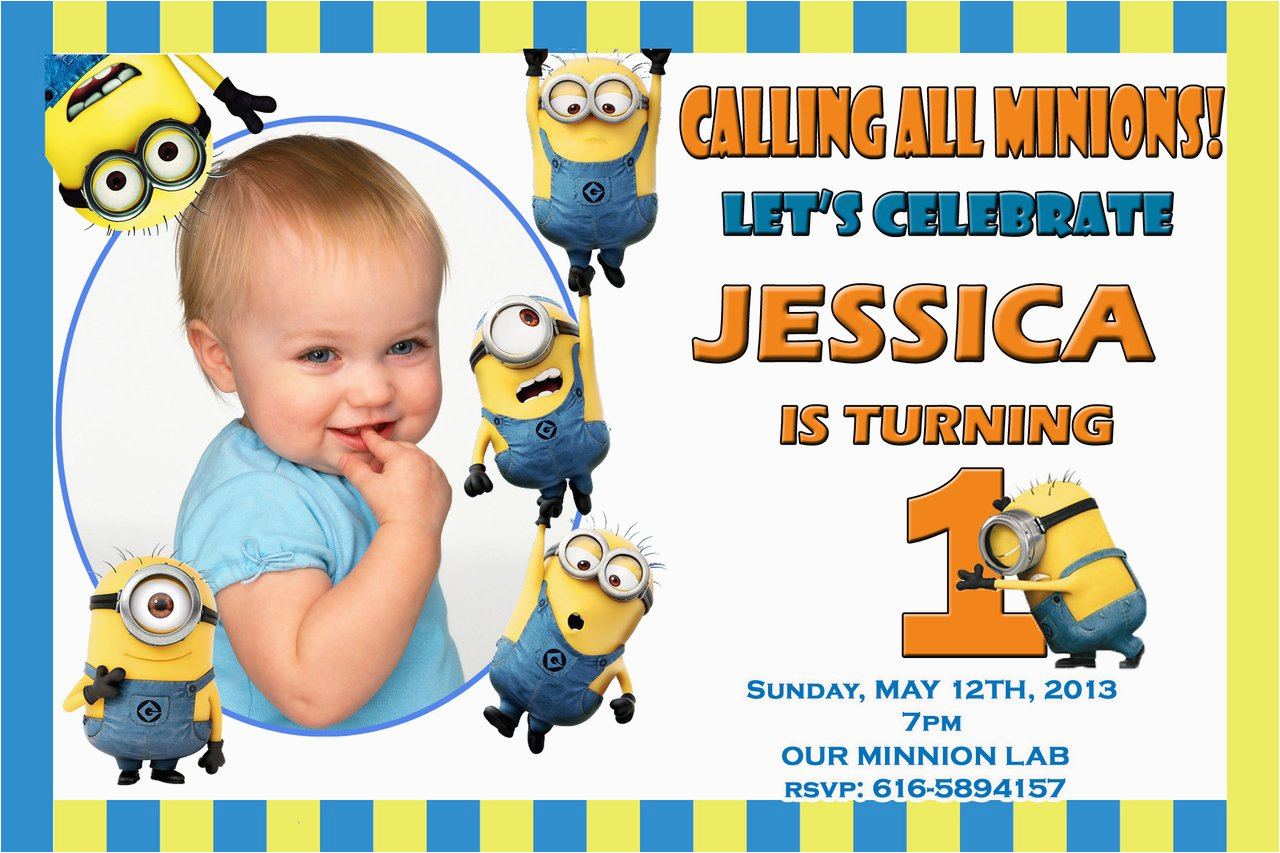 minion birthday invitations minion birthday invitations
