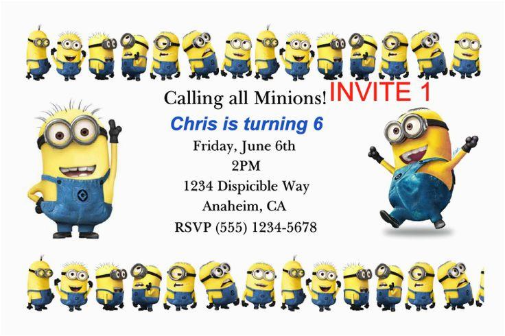 Minions Birthday Invitations Free Online 40th Birthday Ideas Birthday Invitation Template Minions