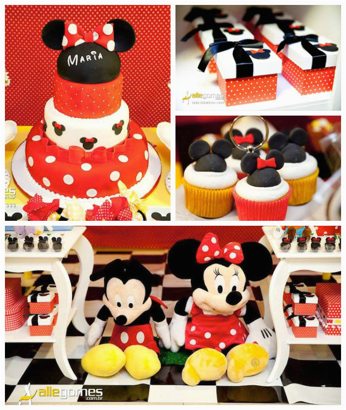mickey minnie mouse themed birthday party