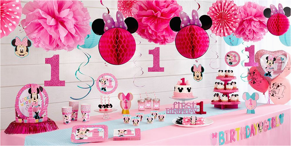 Minnie Mouse 1st Birthday Decoration Ideas Party Supplies City