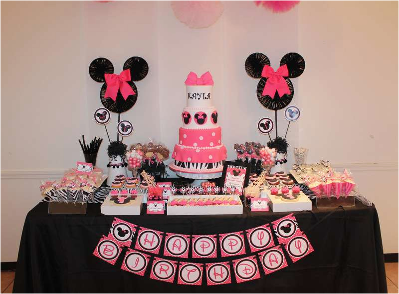 Minnie Mouse 1st Birthday Decoration Ideas Party Photo 1 Of 33 Catch
