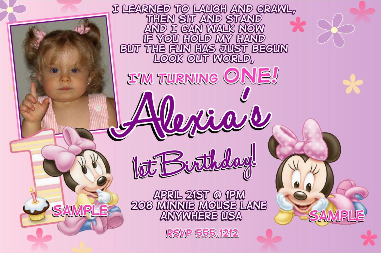 minnie mouse 1st birthday invitations