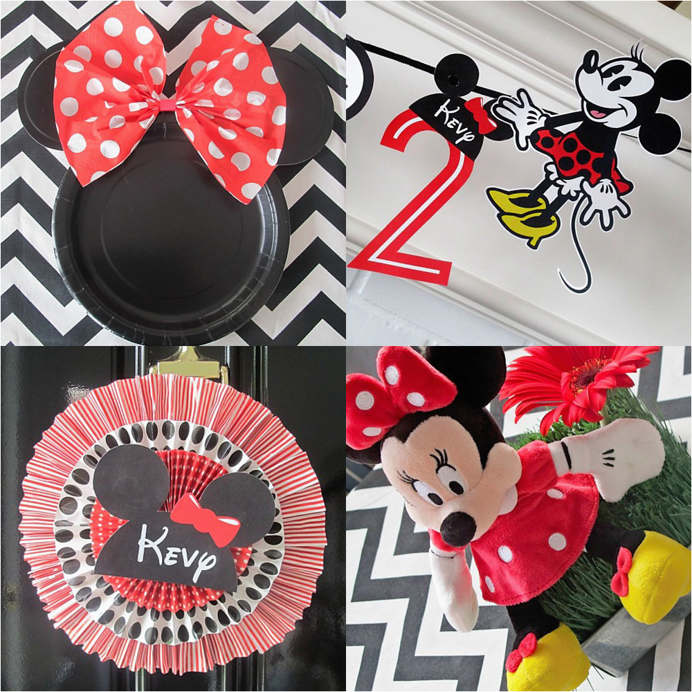 2nd birthday party minne mouse theme