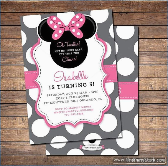 Minnie Mouse Birthday Invitations Diy Invitation Domaindir Info