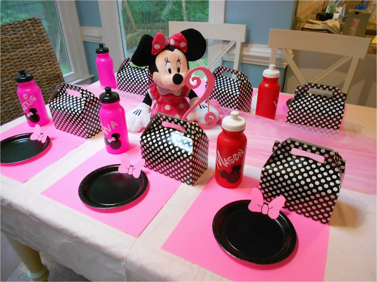 Minnie Mouse Birthday Party Decoration Ideas Free 2nd Invitation Template