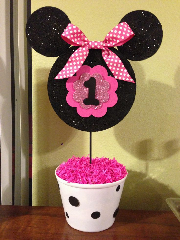 Minnie Mouse Decorations for 1st Birthday 25 Beste Ideeen Over Minnie Mouse Feestje Op Pinterest