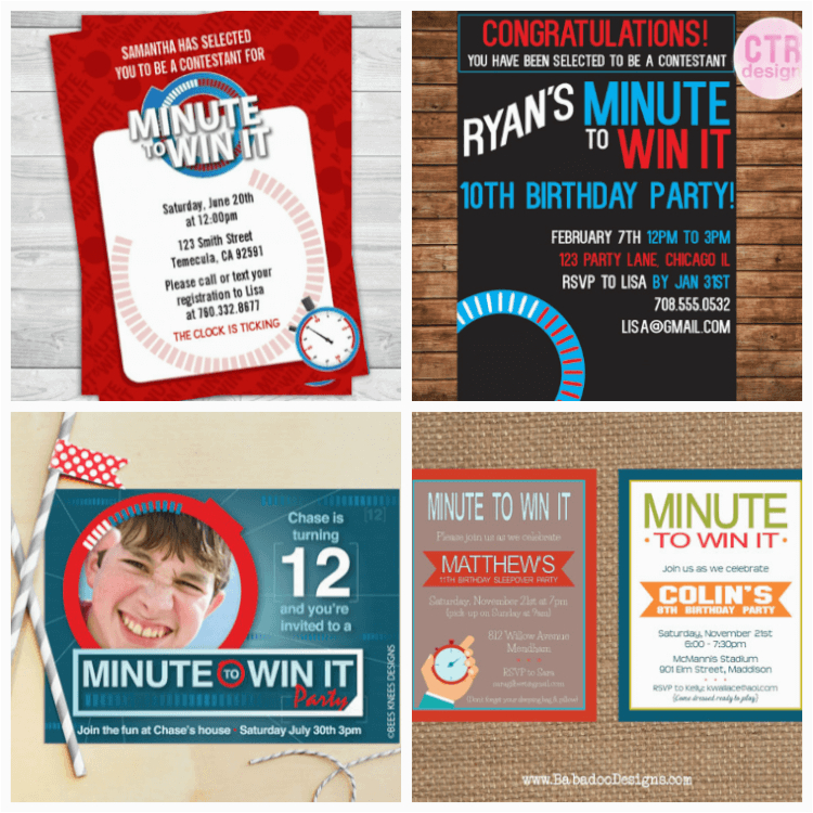 Minute to Win It Birthday Party Invitations 10 Awesome Minute to Win It Party Games Happiness is